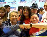 Moreno y Espinel firmaron hoy un acuerdo en Quito para trabajar juntos si gana el candidato de AP. Foto: TW de Moreno