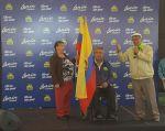Lenín Moreno, de AP, inició su jornada electoral con un encuentro al norte de Quito. Foto: TW de Moreno