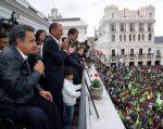 Lenín Moreno indicó que los nombres completos de su gabinete se conocerán en las próximas semanas. Foto: Vicepresidencia