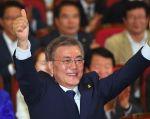 Moon Jae-In obtuvo 41,4% de los votos.  Foto: AFP