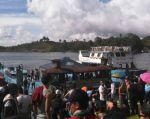 La Fuerza Aérea Colombiana informó el hecho ocurrido en la represa El Peñol, al noroeste del país. Foto: AFP