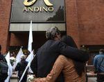 Cuatro hombres y cuatro mujeres fueron capturados por el ataque terrorista del 17 de junio, donde murieron tres colombianos. Foto: AFP