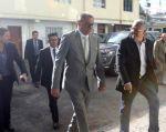El Vicepresidente llegó en su camioneta y con seguridad oficial. Foto: archivo