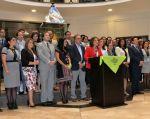 Una docena de ministros y altos funcionarios del Gobierno del presidente Lenín Moreno, expresaron públicamente un total apoyo a sus iniciativas. Foto: Vicepresidencia