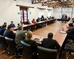 El inicio de Quinto Ciclo de Diálogos se efectúa en la hacienda Cashapamba. Foto: Cancillería