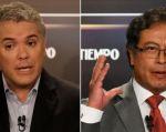 El derechista Iván Duque y el exguerrillero Gustavo Petro antes del definitivo duelo del domingo por la presidencia de Colombia. Foto: AFP