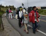 Los gobiernos también clamaron por ayuda financiera para regularizar a los migrantes. Foto: AFP