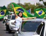 En las proyecciones de balotaje, Bolsonaro y Haddad están técnicamente empatados. Foto: AFP