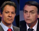 El socialista Fernando Haddad y el ultraderechista Jair Bolsonaro. Foto: AFP