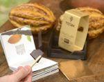 La barra de To'ak viene en una caja de laurel (madera que se usa para fermentar el cacao).