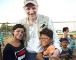 Neeson viajó a la localidad brasileña de Pacaraima, en la línea divisoria con Venezuela y principal puerta de entrada a Brasil de los venezolanos que huyen de la crisis social. Foto: Unicef.