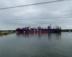 Esta gran embarcación pudo ingresar a los puertos de Guayaquil gracias al trabajo de profundización del canal de acceso y de los esteros.