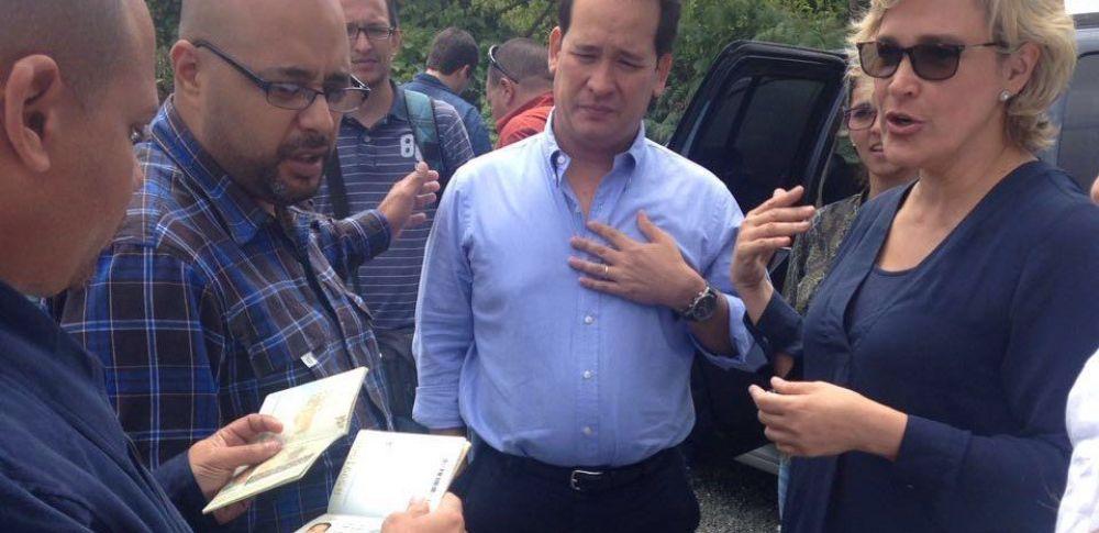 INTERNACIONAL.- Según Venezuela, la asambleísta participó en actividades contrarias a sus leyes. Ecuador solicitará información del incidente. Foto: Twitter