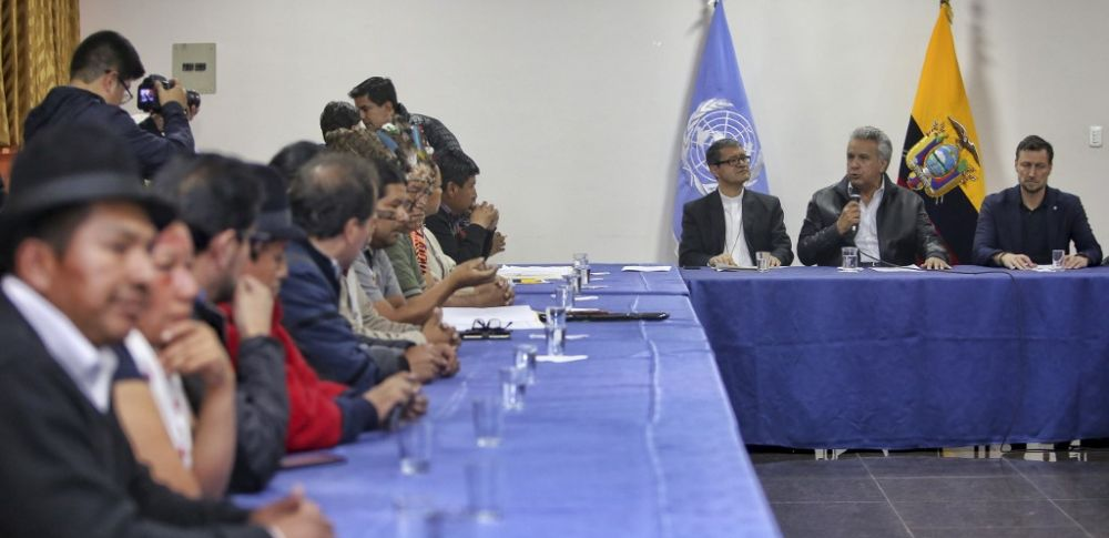 Gobierno Nacional y dirigentes indígenas sellaron un acuerdo en Quito.