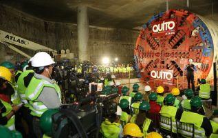 La tuneladora 'La Guaragua' excavará un total de 22 kilómetros a través de la ciudad. Foto: Tomada de Twitter Municipio de Quito.
