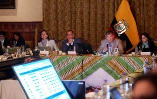 l presidente mostró a sus secretarios de Estado el comportamiento electoral por regiones. Foto: Presidencia.