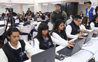 QUITO, Ecuador.- Durante el simulacro del CNE se procesaron 34.343 actas, de un total de 40.963, según Juan Pablo Pozo. Foto: Twiter CNE.