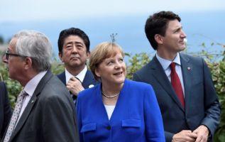 Los líderes del G7 reconocieron por primera vez en la ciudad siciliana de Taormina, su división respecto a la cuestión del clima. Foto: AFP