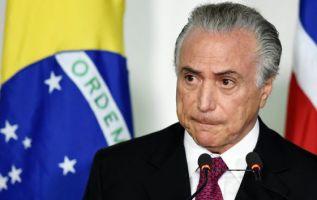El presidente de Brasil, Michel Temer, ha perdido hasta hoy el apoyo de cuatro de los partidos de su base aliada en la Cámara de Diputados desde el inicio de la crisis política. Foto: AFP