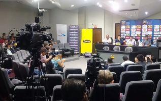 El DT Quinteros indicó que se trabajará en la ofensiva de Ecuador. Foto: FEF