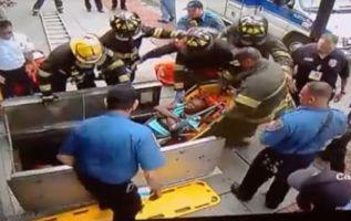 El golpe le provocó heridas severas que la dejaron internada en un hospital de Nueva Jersey.