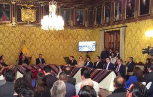 El presidente Lenín Moreno dijo durante la creación del Consejo Productivo que el sector privado es el principal generador de empleo. Foto: TW de Presidencia
