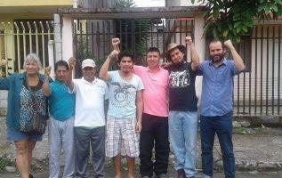 Tras dos años de proceso legal en su contra, el caso conocido como los 7 de Pastaza por su participación en el paro nacional y en el levantamiento indígena llegó a su fin. Foto: Conaie