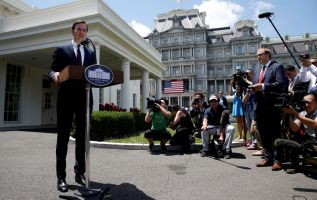 """""""Yo no coludí ni sé de nadie más en la campaña que haya coludido con ningún gobierno extranjero"""", escribió Kushner. Foto: Reuters"""