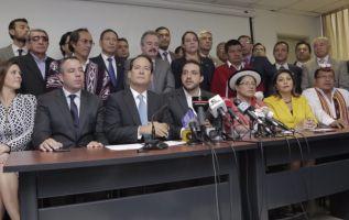 A esta solicitud se suman legisladores de las bancadas de SUMA, Partido Social Cristiano (PSC), Fuerza Ecuador (FE) e Izquierda Democrática (ID). Foto: Twitter Asamblea