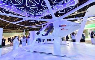 La estrella del salón Gitex, que se abrió el domingo, es el proyecto de taxi volador que se promete para dentro de cinco años. Foto: Internet
