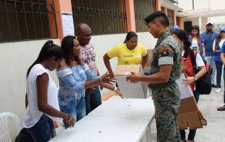 Según la presidenta del CNE, Nubia Villacís, el simulacro culminó con éxito. Foto: CNE