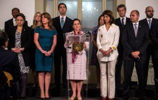 El Grupo de Lima, integrado por Argentina, Canadá, Chile, Colombia, Guatemala, Honduras, México, Panamá, Paraguay, Perú, Brasil y Costa Rica. Foto: AFP