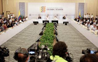 """""""Es satisfactorio saber que tenemos un continuo intercambio de información e inteligencia, para la lucha contra el tráfico de drogas"""", dijo Moreno. Foto: Presidencia"""