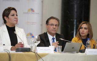 """Según Ochoa, del 100% de medios nacionales apenas el 31% ha sido sancionado, """"muy poco de ellos con sanciones económicas"""". Foto: Asamblea"""