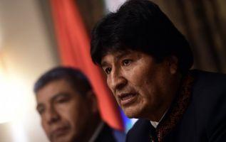 Morales se desplazó incluso a La Haya como parte de la delegación boliviana. Foto: AFP
