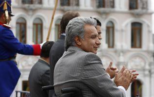 """Moreno llegó al poder tras una victoria apretada. Su meta inicial fue la de cambiar el estilo autoritario que le achacaban a Correa por uno de """"mano extendida"""". Foto: Presidencia"""