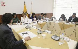 La concurrencia de los funcionarios fue por pedido del legislador Juan Cárdenas. Foto: Asamblea