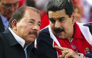 El presidente de Nicaragua, Daniel Ortega, y su homólogo venezolano Nicolás Maduro. Foto: AFP