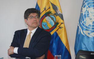 """Valencia señaló que al país """"le corresponde honrar (...) los derechos que él tenga al estar dentro de la embajada"""". Foto: Cancillería"""
