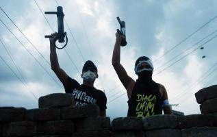 Las manifestaciones contra el gobierno comenzaron el 18 de abril. Foto: AFP