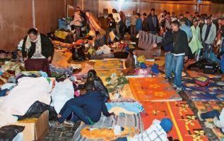 Durante más de dos meses esta fue la imagen de cientos de venezolanos en el Terminal Terrestre de Carcelén, al norte de Quito. Foto: Vistazo