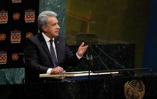 """Moreno se refirió a la situación como """"la mayor diáspora de la historia"""" del continente. Foto: Flickr Presidencia"""