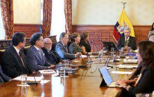 ECUADOR.- El presidente Lenín Moreno lidera la cita, que se desarrolla en el palacio de Carondelet. Foto: Twitter Asamblea