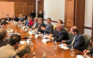 Los funcionarios reiteraron su interés para que los hitos del Tratado Internacional de Comercio se cumplan en el corto plazo. Foto: Twitter Comercio Exterior