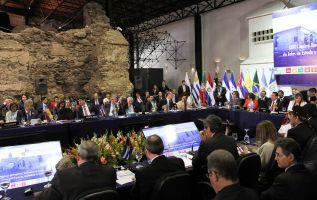 Los mandatarios unieron también sus voces en defensa del prisma multilateral frente al unilateralismo. Foto: Flickr Presidencia