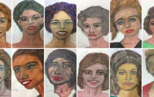 Los dibujos realizados por Little incluyen detalles como el color de los ojos y del pelo de las víctimas. Foto: AFP