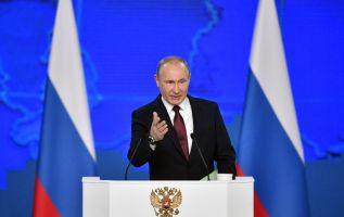 """El presidente ruso detalló luego los avances en la creación de la nuevas armas, especialmente los misiles """"hipersónicos"""". Foto: AFP"""