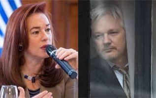 María Fernanda Espinosa es acusada de las irregularidades que se presentaron en el proceso de naturalización de Assange.