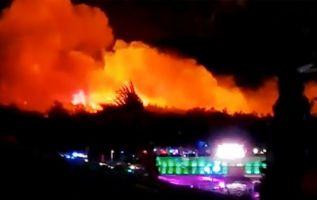 La causa del incendio todavía no ha sido determinada. Foto: Reuters.