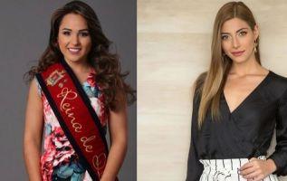 Reina de Quito 2018-2019, Daniela Almeida / exreina de Quito 2017-2018, Ana Carolina Carvajal.